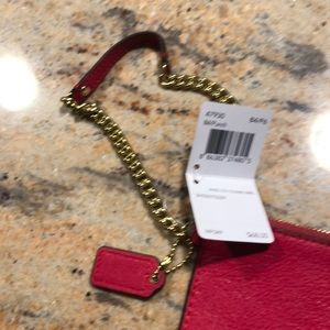 Coach Bags - 🆕Authentic Coach Pink Leather Wristlet